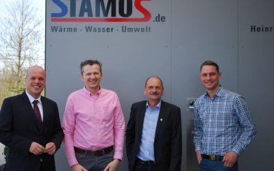 Grevenbroicher Bürgermeister besucht Familienunternehmen Stamos